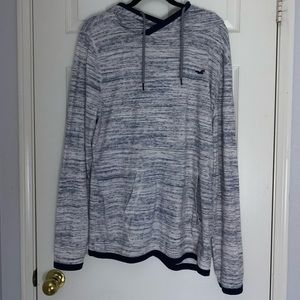 Hollister Blue and White Hoodie